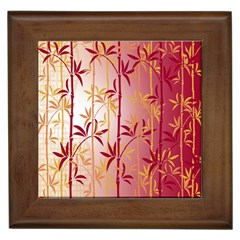 Bamboo Tree New Year Red Framed Tiles