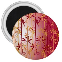 Bamboo Tree New Year Red 3  Magnets