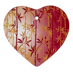 Bamboo Tree New Year Red Ornament (Heart)
