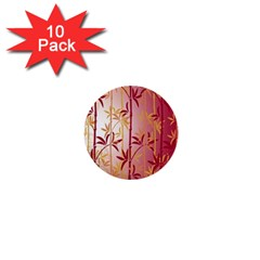 Bamboo Tree New Year Red 1  Mini Buttons (10 pack)