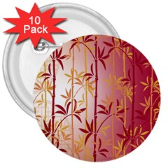 Bamboo Tree New Year Red 3  Buttons (10 pack)