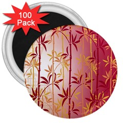 Bamboo Tree New Year Red 3  Magnets (100 pack)