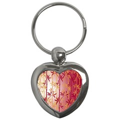 Bamboo Tree New Year Red Key Chains (Heart)