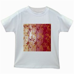 Bamboo Tree New Year Red Kids White T-Shirts