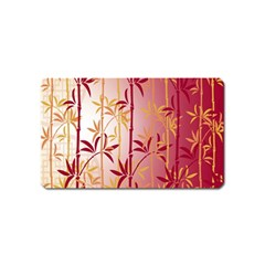 Bamboo Tree New Year Red Magnet (Name Card)