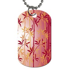 Bamboo Tree New Year Red Dog Tag (One Side)