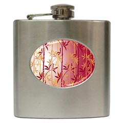 Bamboo Tree New Year Red Hip Flask (6 oz)