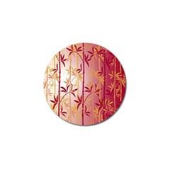 Bamboo Tree New Year Red Golf Ball Marker