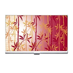 Bamboo Tree New Year Red Business Card Holders