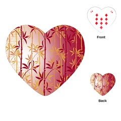 Bamboo Tree New Year Red Playing Cards (Heart)