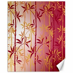 Bamboo Tree New Year Red Canvas 16  x 20