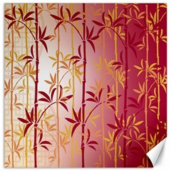 Bamboo Tree New Year Red Canvas 20  x 20