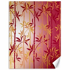 Bamboo Tree New Year Red Canvas 18  x 24