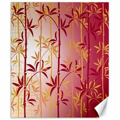 Bamboo Tree New Year Red Canvas 20  x 24