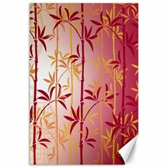 Bamboo Tree New Year Red Canvas 24  x 36