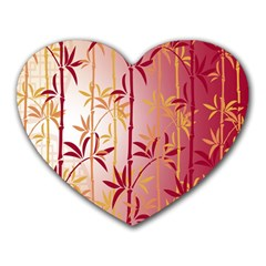 Bamboo Tree New Year Red Heart Mousepads