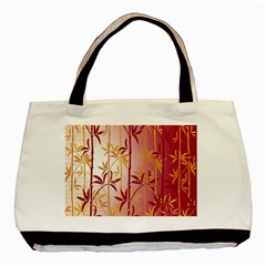 Bamboo Tree New Year Red Basic Tote Bag (Two Sides)