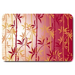 Bamboo Tree New Year Red Large Doormat