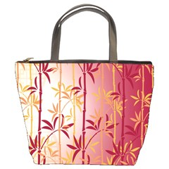 Bamboo Tree New Year Red Bucket Bags
