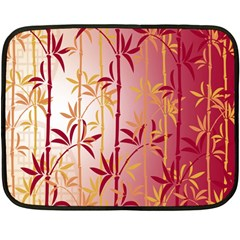 Bamboo Tree New Year Red Double Sided Fleece Blanket (Mini)