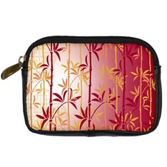 Bamboo Tree New Year Red Digital Camera Cases