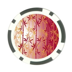 Bamboo Tree New Year Red Poker Chip Card Guards (10 pack)