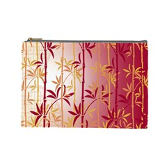 Bamboo Tree New Year Red Cosmetic Bag (Large)