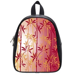 Bamboo Tree New Year Red School Bags (Small)