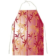 Bamboo Tree New Year Red Full Print Aprons