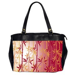 Bamboo Tree New Year Red Office Handbags (2 Sides)