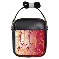 Bamboo Tree New Year Red Girls Sling Bags