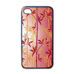 Bamboo Tree New Year Red Apple iPhone 4 Case (Black)