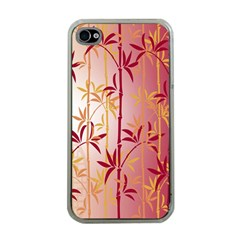 Bamboo Tree New Year Red Apple iPhone 4 Case (Clear)