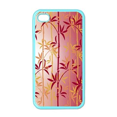 Bamboo Tree New Year Red Apple iPhone 4 Case (Color)
