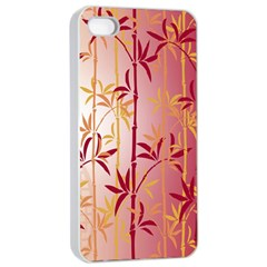 Bamboo Tree New Year Red Apple iPhone 4/4s Seamless Case (White)