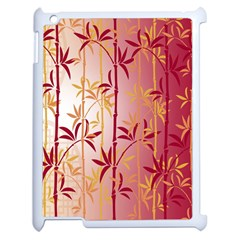 Bamboo Tree New Year Red Apple iPad 2 Case (White)