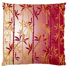 Bamboo Tree New Year Red Large Cushion Case (One Side)