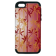 Bamboo Tree New Year Red Apple iPhone 5 Hardshell Case (PC+Silicone)