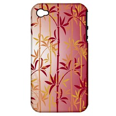 Bamboo Tree New Year Red Apple iPhone 4/4S Hardshell Case (PC+Silicone)