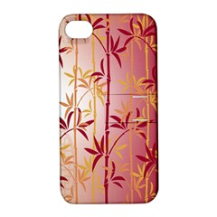 Bamboo Tree New Year Red Apple iPhone 4/4S Hardshell Case with Stand