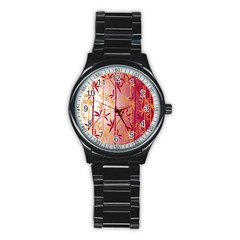 Bamboo Tree New Year Red Stainless Steel Round Watch