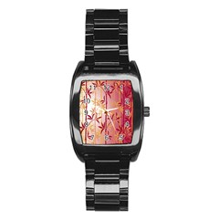 Bamboo Tree New Year Red Stainless Steel Barrel Watch