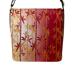 Bamboo Tree New Year Red Flap Messenger Bag (L)