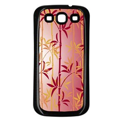 Bamboo Tree New Year Red Samsung Galaxy S3 Back Case (Black)