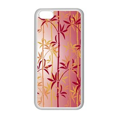 Bamboo Tree New Year Red Apple iPhone 5C Seamless Case (White)