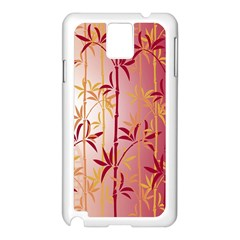 Bamboo Tree New Year Red Samsung Galaxy Note 3 N9005 Case (White)