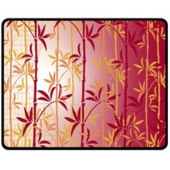Bamboo Tree New Year Red Double Sided Fleece Blanket (Medium)