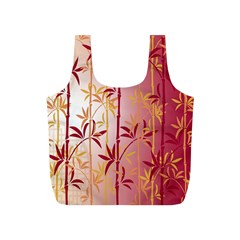 Bamboo Tree New Year Red Full Print Recycle Bags (S)