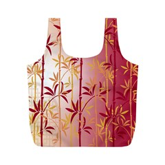 Bamboo Tree New Year Red Full Print Recycle Bags (M)