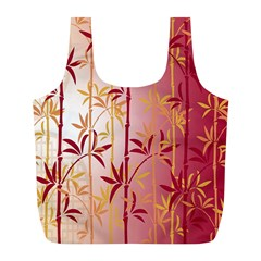 Bamboo Tree New Year Red Full Print Recycle Bags (L)